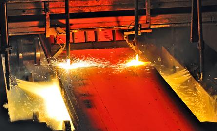 Hot metal cutting