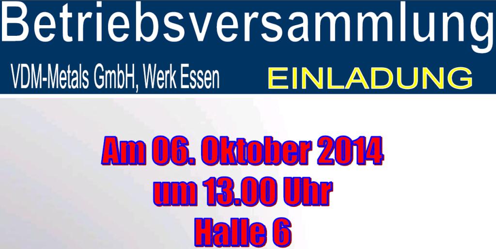 Betriebsversammlung Werk Essen