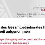 IGM Mitteilung 1