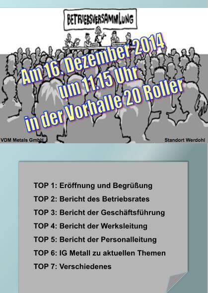 Betriebsversammlung Werdohl Dezember 2015