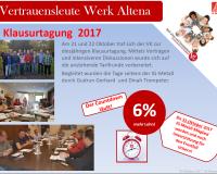 """Vertrauensleute Werk Altena """"Klausurtagung 2017"""""""
