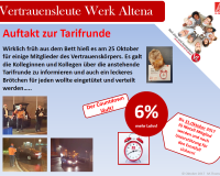 """Vertrauensleute Werk Altena """"Auftakt zur Tarifrunde"""""""