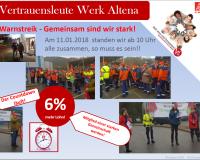 Warnstreik Werk Altena