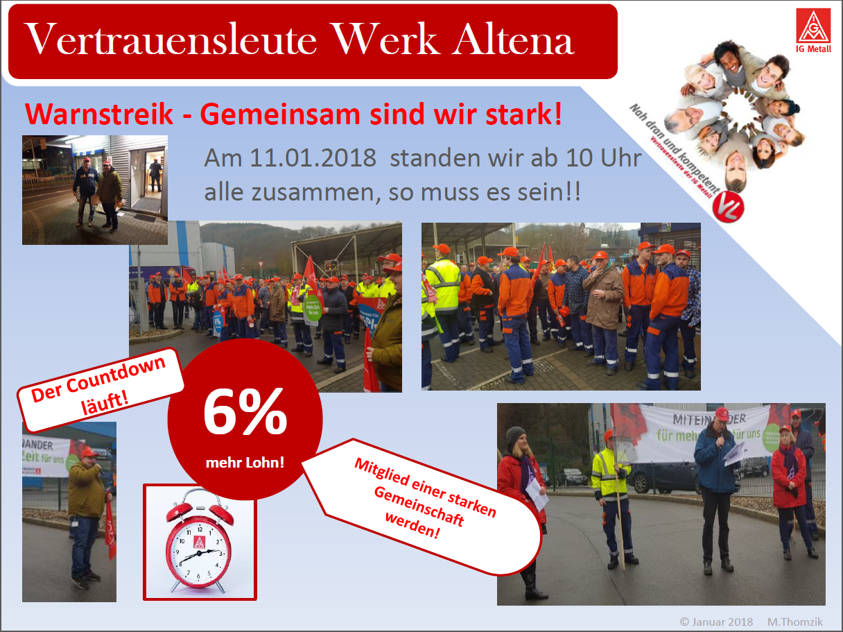 Warnstreik-Altena