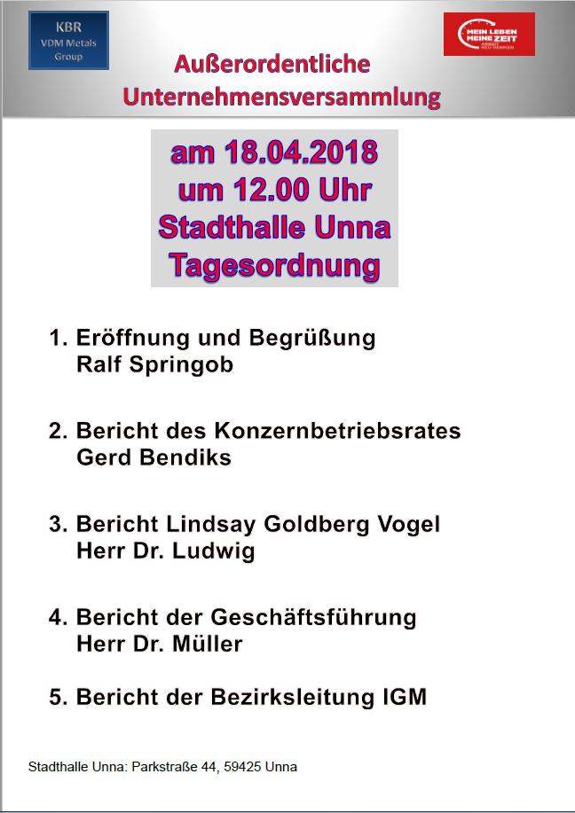 Außerordentliche BV Unna 2018_04_18
